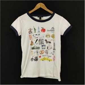 J Crew New York City Collector Graphic T-shirt Top